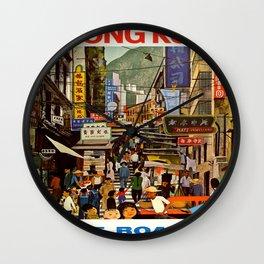 Vintage poster - Hong Kong Wall Clock