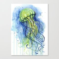 Jellyfish Watercolor Beautiful Sea Creatures Canvas Print