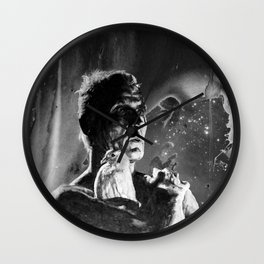Like tears in rain - black - quote Wall Clock