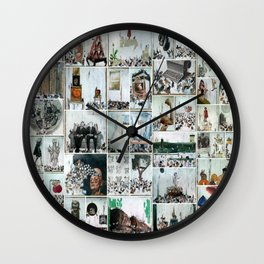 100 Days of Bunnies Poster  Wall Clock