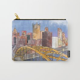 Pittsburgh Fort Pitt and Downtown Carry-All Pouch
