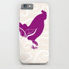 Farm Poster #2 - Rooster & Worm iPhone 6s Slim Case