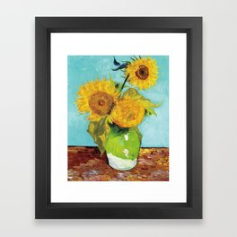 Vincent van Gogh - Three Sunflowers Framed Art Print