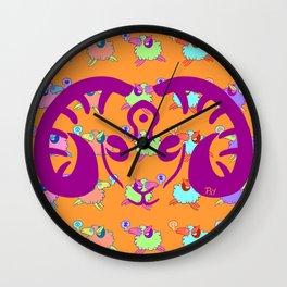 Blotter art 3-Sheepy Wall Clock