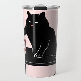 BlackPink Cat - Beaker Breaker Travel Mug