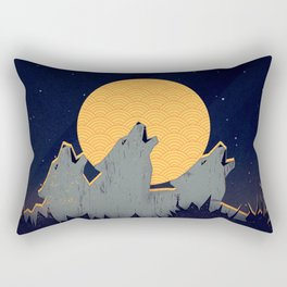 Midnight Sound Rectangular Pillow
