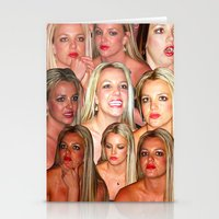 britney Stationery Cards featuring BRITNEY COLLAGE by plasticdesigns