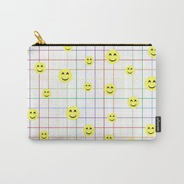 Colorful Smiley Emoji 3 - white Carry-All Pouch