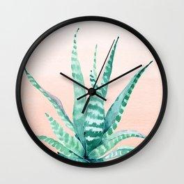Desert Succulent Aloe Vera Wall Clock