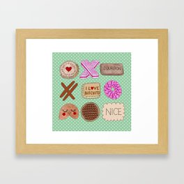 I Love Biscuits  Framed Art Print