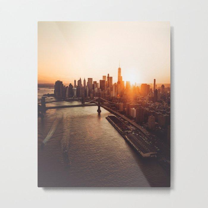 nyc aerial view Metal Print