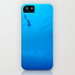 Dive through the rays of sunlight iPhone Case