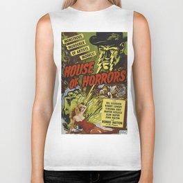House of Horrors, vintage horror movie poster Biker Tank