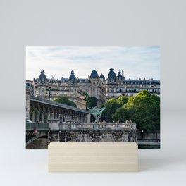 Pont de Bir-Hakeim over the Seine - Paris, France Mini Art Print