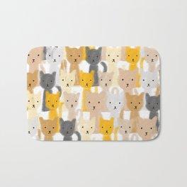 Peeping Cats Pattern Bath Mat