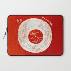you are what you listen to, RED Laptop Sleeve