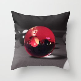Pool Table Illusions Throw Pillow
