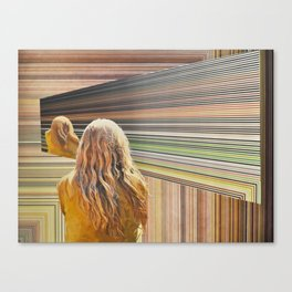 The Treachery of Images; A Portrait of the Viewer in a Holographic Multiverse Canvas Print