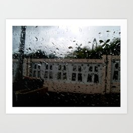 Raining at the Basilica of Higuey, Santo Domingo, DR Art Print