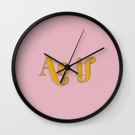 As If - Clueless Typography movie quote pink art Wall Clock