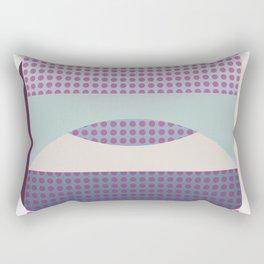 Purple Fog, Geometric Landscape Rectangular Pillow
