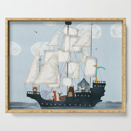 a nautical adventure Serving Tray