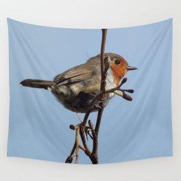 Beautiful robin Wall Tapestry