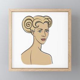 Aries blonde Framed Mini Art Print