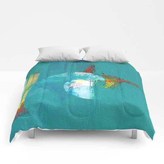 Tournament (knight turquoise) Comforters