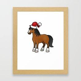 Horse Christmas Shirt Framed Art Print