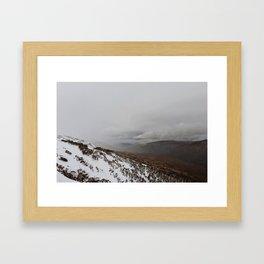 Snowy Mountains Framed Art Print