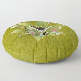 Green Lion Floor Pillow