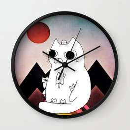 cat mountain 240 Wall Clock