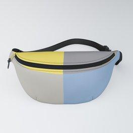 Yellow Pastel Blue Gray Geometric Minimal Design Fanny Pack
