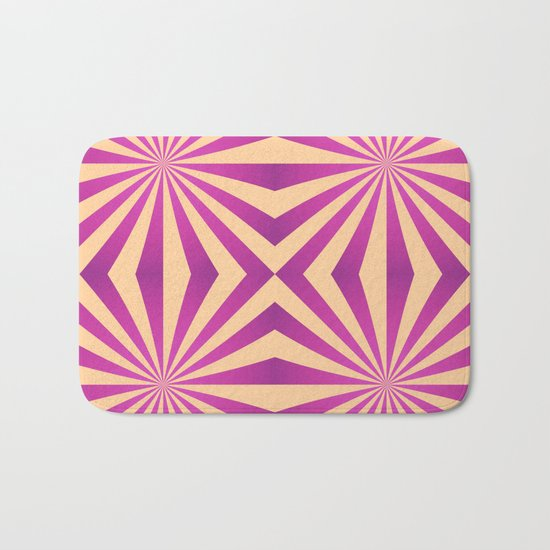 Purple and pale yellow - Geometric game Bath Mat