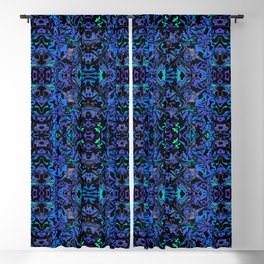 Cosmic Chaos Abstract Blackout Curtain