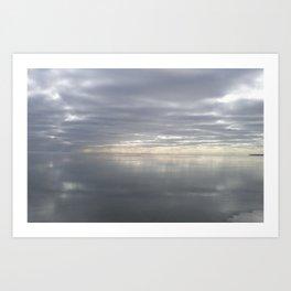 Icy Michigan Lake #2 Art Print