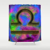 libra Shower Curtains featuring Libra by Synesthetic