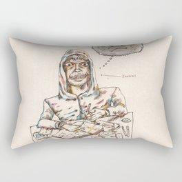 Autorretrat amb ewoks Rectangular Pillow