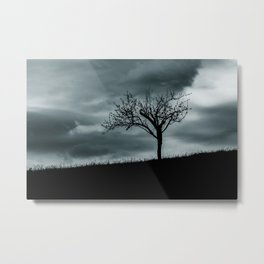 Alone tree before the storm Metal Print