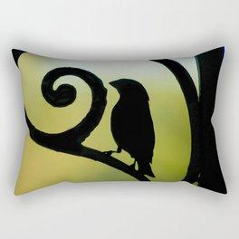 Bird on the Ironwork Rectangular Pillow