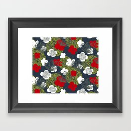 Kokedama Garden M+M Navy Black by Friztin Framed Art Print