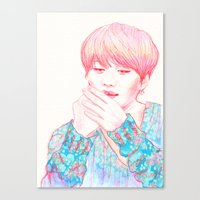 shinee Canvas Prints featuring SHINee Taemin by sophillustration