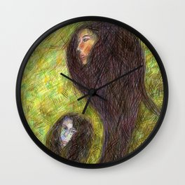Poissons de Crayons Wall Clock