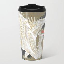 Jakuchu Phoenix with Paulownia Background Travel Mug