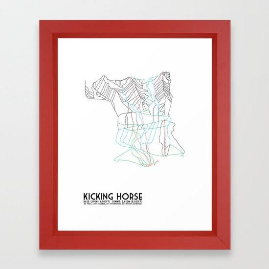Kicking Horse, BC, Canada - Minimalist Trail Map by circlesquarediamond