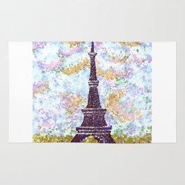 Eiffel Tower Pointillism by Kristie Hubler Rug