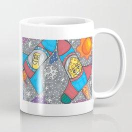 Mac & Cheese in space Doubled Coffee Mug