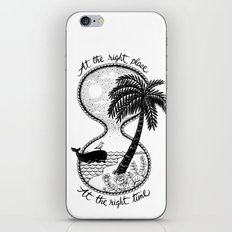 At the right place iPhone & iPod Skin