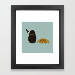 Potato Ninja Framed Art Print
